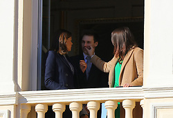 Princess Stephanie of Monaco, Louis Ducruet and Pauline Ducruet attending the Monaco National Day Celebrations in the Monaco Palace Courtyard on November 19, 2017 in Monaco, Monaco. Photo by Yuri Krakow/ABACAPRESS.COM