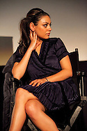 """Mila Kunis speaking about her role in the film """"Black Swan"""" during a Q and A screening at the Arclight Cinema held by The Wrap."""