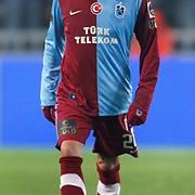Trabzonspor's Gustavo COLMAN during their Turkish superleague soccer derby match Fenerbahce between Trabzonspor at the Sukru Saracaoglu stadium in Istanbul Turkey on Sunday 30 January 2011. Photo by TURKPIX