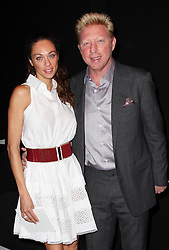 Boris Becker and his wife at the Carolina Herrera show  at  New York Fashion Week, Monday, 10th  September 2012. Photo by: Stephen Lock / i-Images