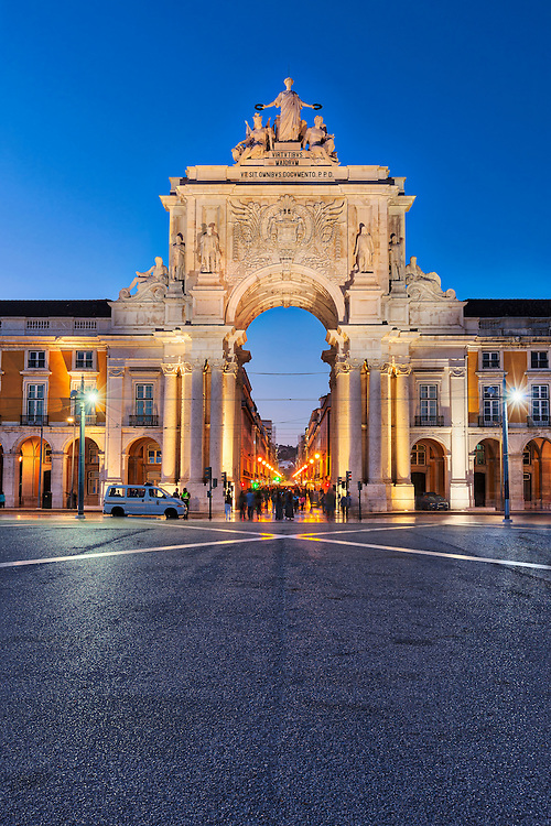 Entrance of Praca Do Comercio, Lisbon, Portugal