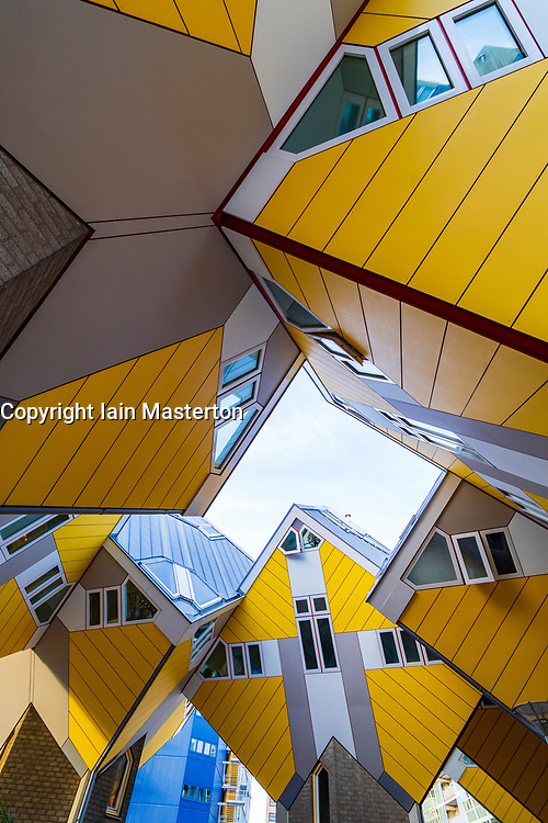 Exterior of Cube Houses in Rotterdam The Netherlands