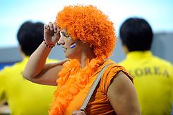08-07-2010 VOLLEYBAL: WLV NEDERLAND - ZUID KOREA: EINDHOVEN<br /> Nederland verslaat Zuid Korea met 3-0 / Oranje support publiek<br /> ©2010-WWW.FOTOHOOGENDOORN.NL