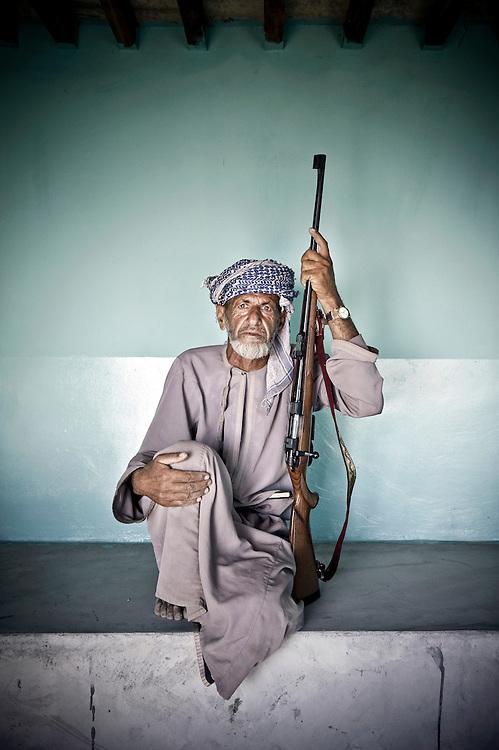 Jabal El Shams mountains, Sultanate of Oman, 27 November 2008<br /> Portrait of a beduin.<br /> Photo: Ezequiel Scagnetti
