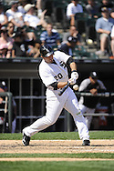 CHICAGO - JULY 06:  Carlos Quentin #20 of Chicago White Sox bats against the Kansas City Royals on July 6, 2011 at U.S. Cellular Field in Chicago, Illinois.  The Royals defeated the White Sox 4-1.  (Photo by Ron Vesely)  Subject: Carlos Quentin