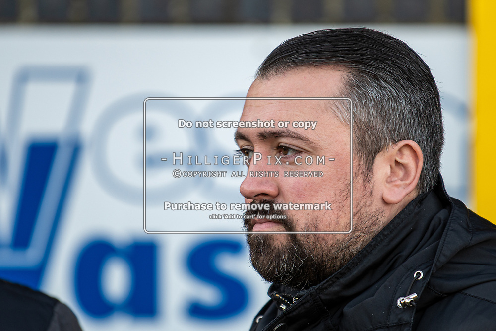 BROMLEY, UK - JANUARY 04: Former Cray Wanderers goalkeeper, Nick Blue, returns to watch the BetVictor Isthmian Premier League match between Cray Wanderers and Wingate & Finchley at Hayes Lane on January 4, 2020 in Bromley, UK. <br /> (Photo: Jon Hilliger)