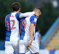 Blackburn Rovers' Danny Graham & Anthony Stokes at the end of the first half<br /> <br /> Photographer David Shipman/CameraSport<br /> <br /> Football - The EFL Cup First Round - Mansfield Town v Blackburn Rovers - Tuesday 9th August 2016 - One Call Stadium - Mansfield<br />  <br /> World Copyright © 2016 CameraSport. All rights reserved. 43 Linden Ave. Countesthorpe. Leicester. England. LE8 5PG - Tel: +44 (0) 116 277 4147 - admin@camerasport.com - www.camerasport.com