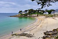 France, Morbihan (56), Golfe du Morbihan, Presqu'île de Rhuys, Arzon, plage de Port Navalo // France, Morbihan (56), Gulf of Morbihan, peninsula Rhuys, Arzon, Port Navalo Beach