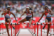 Kendra Harrison of the United States of America during the Women's 100m Hurdles Final at the Muller Anniversary Games, Day Two, at the London Stadium, London, England on 22 July 2018. Picture by Martin Cole.