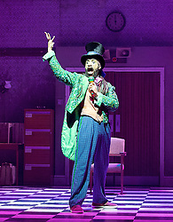 The Mad Hatter's Tea Party <br /> by Zoo Nation<br /> directed by Kate Prince<br /> presented by Zoo Nation, The Roundhouse & The Royal Opera House<br /> at The Roundhouse, London, Great Britain <br /> rehearsal <br /> 29th December 2016 <br /> <br /> <br /> Issac Turbo Baptiste<br /> as the Mad Hatter <br /> <br /> <br /> <br /> Photograph by Elliott Franks <br /> Image licensed to Elliott Franks Photography Services