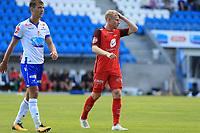 Fotball , 29. juli 2018 , Trening kamp,<br />Haugesund - Brann Bergen<br />Henrik Johansen fra Brann Bergen i aksjon mot Haugesund.<br />Foto: Andrew Halseid Budd , Digitalsport