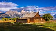The Moulton Barn on Mormon Row, Grand Teton National Park, Wyoming USA