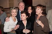 DIANA HARDCASTLE; TIM PIGOTT-SMITH; LUCY COHU; IMELDA STAUNTON; PENELOPE WILTON, Press night for Edwards Albee's A Delicate Balance at the Almeida Theatre. London. 12 May 2011. <br /> <br />  , -DO NOT ARCHIVE-© Copyright Photograph by Dafydd Jones. 248 Clapham Rd. London SW9 0PZ. Tel 0207 820 0771. www.dafjones.com.