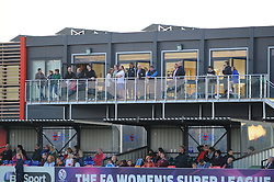 Bristol Academy Womens'  fans watch the match from up high. - Photo mandatory by-line: Nizaam Jones - Mobile: 07583 387221 - 04/10/2014 - SPORT - Football - Bristol - Stoke Gifford Stadium - BAWFC v Notts County Ladies - Sport