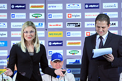 Jerca Zajc and Tomaz Sustersic  at press conference of Slovenian Biathlon National Team before new season 2008/2009, on November 24, 2008 in Emporium, BTC, Ljubljana, Slovenia.  (Photo by Vid Ponikvar / Sportida)