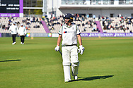 Gary Ballance of Yorkshire walks back to the pavilion for tea during the Specsavers County Champ Div 1 match between Hampshire County Cricket Club and Yorkshire County Cricket Club at the Ageas Bowl, Southampton, United Kingdom on 11 April 2019.