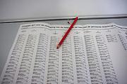 Stemlokaal en biljet voor de gemeenteraadsverkiezingen 2010