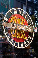smokers sanctuary cigar shop in New York City October 2008