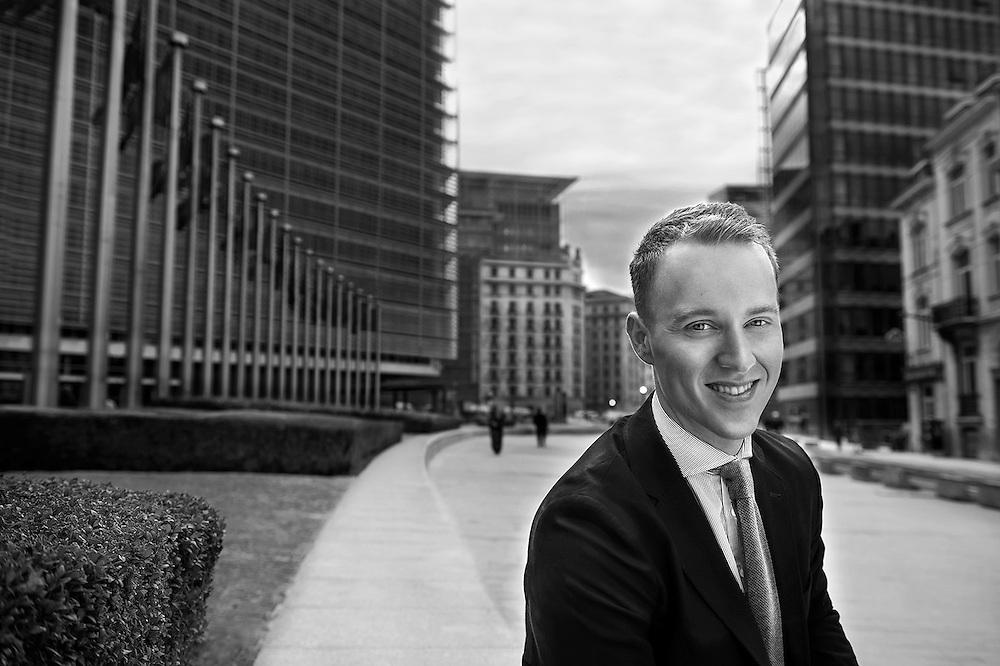 Brussels, Belgium 27 October 2015<br /> Portrait of Simon Johannsson.<br /> Photo: Ezequiel Scagnetti
