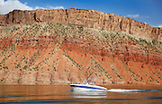 SHOT 6/8/16 9:24:57 AM - Flaming Gorge Reservoir straddles the Utah-Wyoming border and was completed in 1964. The reservoir is mainly in southwest Wyoming and partially in northeastern Utah. The northern tip of the reservoir is 10 miles southeast of Green River, Wyoming, 14 miles southwest of Rock Springs, Wyoming, and 43 miles north of Vernal, Utah. Visitors enjoy world class fishing, hiking, boating, windsurfing, camping, backpacking, cross-country skiing, and snowmobiling within Flaming Gorge National Recreation Area, which is operated by Ashley National Forest. (Photo by Marc Piscotty / © 2016)