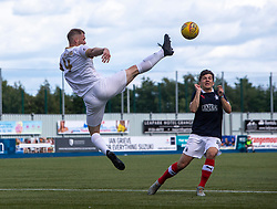 Livingston Alan Lithgow and Falkirk's Charlie Telfer. Falkirk 1 v 1 Livingston, Livingston win 4-3 on penalties. BetFred Cup game played 13/7/2019 at The Falkirk Stadium.