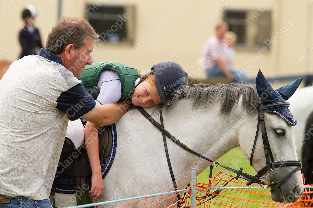 Emma O'Connor on Pepper Diamond competing in the show jumping in Corofin