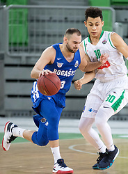 Mirza Sarajlija of KK Rogaska vs Marvin Jones of Petrol Olimpija during 2nd leg basketball match between KK Petrol Olimpija and KK Rogaska in quarter final of  Pokal SPAR 2018/19, on January 14, 2019 in Arena Stozice, Ljubljana, Slovenia. Photo by Matic Ritonja / Sportida