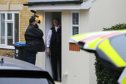 © Licensed to London News Pictures. 28/11/2020. London, UK. Police officers at a residential property on Macleod Road in Enfield where a man in his 30s was stabbed to death. Police were called on Friday, 27 November and found a critically injured man, who had sustained a number of stab wounds. Police officers administered CPR prior to the arrival of the London Ambulance Service, however the man could not be revived. A man has been arrested at the location on suspicion of murder. Photo credit: Dinendra Haria/LNP