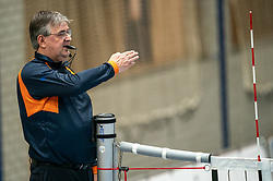Referee Marco van Klink in action during the league match Taurus - Amysoft Lycurgus on January 16, 2021 in Houten.