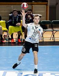 Marko Kotar of Trimo Trebnje during handball match between RK Trimo Trebnje and Rhein-Neckar Loewen in 6th Round of EHF Europe League 2020/21, on February 9, 2021 in Hala Tivoli, Ljubljana, Slovenia. Photo by Vid Ponikvar / Sportida