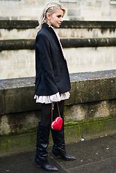 Caroline Daur is seen during Paris Fashion Week Womenswear Fall/Winter 2018/2019, on March 4, 2018 in Paris, France.  (Photo by Nataliya Petrova/NurPhoto/Sipa USA)