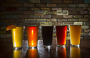 Blonde, IPA, Stout, Amber and Logger. (Ellen M. Banner / The Seattle Times)