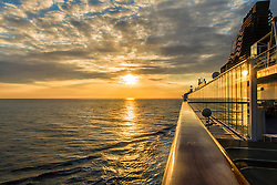 """Watching the sun set in the shores of Kona Hawaii on a Norwegian Cruise Line ship """"Pride Of America"""""""