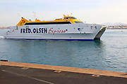 Fred Olsen Express ferry ship, Corralejo, Fuerteventura, Canary Islands, Spain
