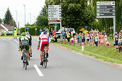 The fans watching cyclists during 1st Stage of 25th Tour de Slovenie 2018 cycling race between Lendava and Murska Sobota (159 km), on June 13, 2018 in  Slovenia. Photo by Vid Ponikvar / Sportida