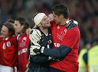 Fotball<br /> Kvalifisering til EM 2004<br /> 11.10.2003<br /> Sveits v Irland<br /> Foto: Digitalsport<br /> Norway Only<br /> <br /> Jubel v.l. Jörg Stiel und Pascal Zuberbuhler