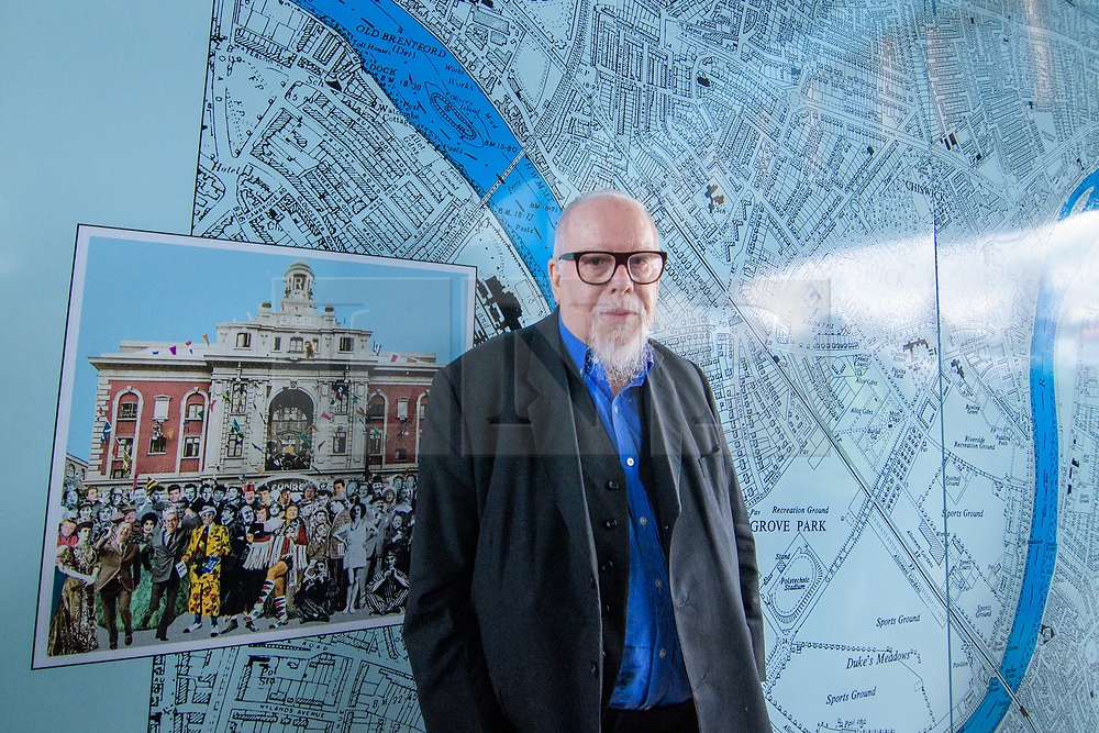 © Licensed to London News Pictures. <br /> 28/1/2018. London, Great Britain.  <br /> Sir Peter Blake opens The Chiswick Timeline, a history in art and Maps<br /> 16 large historic maps and 23 works of art by leading artists showing Chiswick landmarks.<br /> The Chiswick Timeline celebrates the history of a part of London that was once a village west of the capital on the banks of the River Thames.<br /> The landmark work of art is situated under the railway bridges under Turnham Green tube station.<br /> <br /> Photo credit: Anthony Upton/LNP