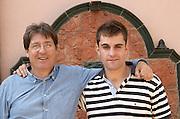 Carles Pastrana and son. Clos de l'Obac, Costers del Siurana, Gratallops, Priorato, Catalonia, Spain.