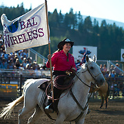 Global Wireless colors at the Darby MT Elite Proffesionals Bull Riding Event July 7th 2017.  Photo by Josh Homer/Burning Ember Photography.  Photo credit must be given on all uses.