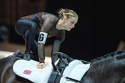 Lucy Phillips, (GBR), Pitucelli, Elizabeth Phillips - Individuals Women Technical Vaulting - Alltech FEI World Equestrian Games™ 2014 - Normandy, France.<br /> © Hippo Foto Team - Jon Stroud<br /> 04/09/2014