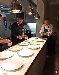 Massimo Bottura has posted a photo on Instagram with the following remarks: @davidbeckham… a gentleman who knows how to kick a ball, how to pick a great wine, and now how to plate the perfect dish! @casamarialuigia @laratgilmore @jessrosval @rivayacht @maserati Instagram 22/06/2021 Casa Maria Luigia This is a private photo posted on social networks and supplied by this Agency. This Agency does not claim any ownership including but not limited to copyright or license in the attached material. Fees charged by this Agency are for Agency's services only, and do not, nor are they intended to, convey to the user any ownership of copyright or license in the material. By publishing this material you expressly agree to indemnify and to hold this Agency and its directors, shareholders and employees harmless from any loss, claims, damages, demands, expenses (including legal fees), or any causes of action or allegation against this Agency arising out of or connected in any way with publication of the material.