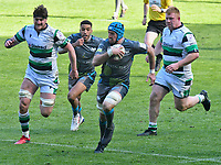Rugby Union - 2020 / 2021 European Rugby Challenge Cup - Round of 16 - Ospreys vs Newcastle Falcons - Liberty Stadium<br /> <br />  Justin Tipuric © Ospreys breaks to score<br /> <br /> COLORSPORT/WINSTON BYNORTH