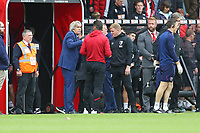 Football - 2019 / 2020 Premier League - AFC Bournemouth vs. West Ham United<br /> <br /> West Ham United Manager Manuel Pellegrini speaks to Bournemouth's Manager Eddie Howe and Assistant Manager Jason Tindall after the final whistle at the Vitality Stadium (Dean Court) Bournemouth <br /> <br /> COLORSPORT/SHAUN BOGGUST