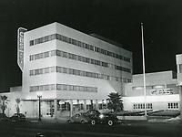 1941 CBS Radio on Sunset Blvd. at night
