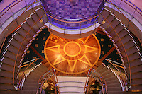 Royal Caribbean International's  Independence of the Seas, the world?s largest cruise ship. ..Interior and exterior features photos...Stairwell *** Local Caption *** Stairwell