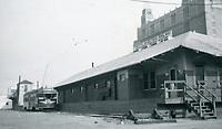 1952 Pacific Electric Freight on Santa Monica Blvd. at La Brea Ave.