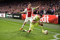 17-09-2015 NED: UEFA Europa League AFC Ajax - Celtic FC, Amsterdam<br /> Ajax heeft in zijn eerste duel in de Europa League thuis moeizaam met 2-2 gelijkgespeeld tegen Celtic / Mikael Lustig #23, Davy Klaassen #10