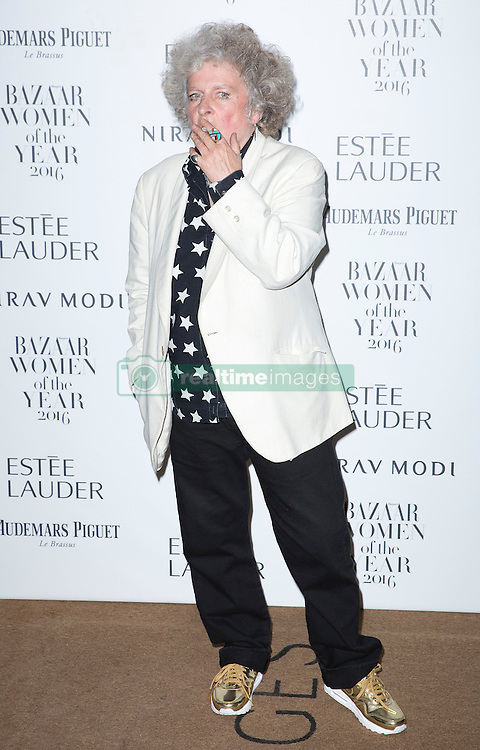 Maggi Hambling attending the Harper's Bazaar Woman of the Year awards at Claridges in London. Picture date: Monday October 31, 2016. Photo credit should read: Isabel Infantes / EMPICS Entertainment.