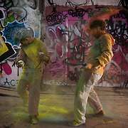 Andrea Imbert and Yanny Tokyo. The video the Power of IF was filmed in a tunnel by Waterloo and was filmed and produced by Armoury London. More than a hundred 16 - 25 yr olds joined a creative paint-fuelled event to express their support for the Enough Food IF campaign. While making the video was a fun and colourful process, the message remains a serious one: global hunger is outrageous and unacceptable.