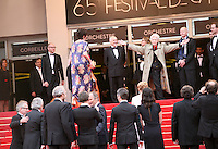 Director Alain Resnais welcomes the  cast at the Vous N'Avez Encore Rien Vu gala screening at the 65th Cannes Film Festival France. Monday 21st May 2012 in Cannes Film Festival, France.